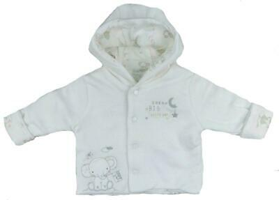 Baby Boy Cotton Hooded Jacket Double Thickness Ex Motherc*re Newborn to 3-6mths