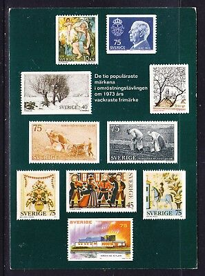Sweden 1973 Issues Maxi Card Mint