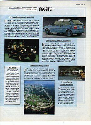 Z57 Ritaglio Clipping 1989 Mitsubishi Jeep P-J 53 Nissan March Micra Super Turbo