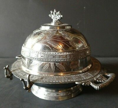 Acme Silver Co Toronto Dome Top Butter Dish On Hinge 211
