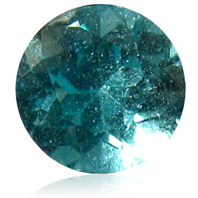 0.66 ct Round (5 x 5 mm) Blue UnHeated Apatite-YEAR END CLEARANCE SALE-FREE SHIP