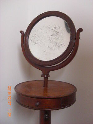 French Empire Mahogany Gentleman's Adjustable Height Drawer Shaving Stand 1830