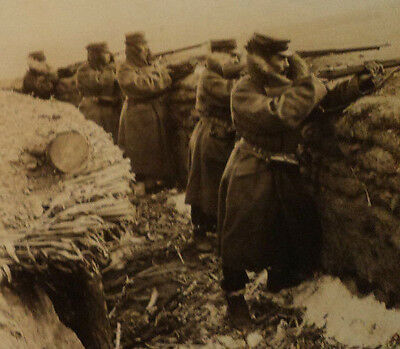 Stereoview Russian Infantry ?   circa early 1900s  vintage military WAR foreign
