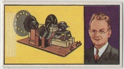 Television Invention John Logie Baird Color Tube Vintage Trade Ad Card