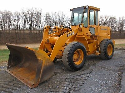 John Deere 544E Rubber Tired Loader, Cab, QT GP Bucket, 8318 Hours