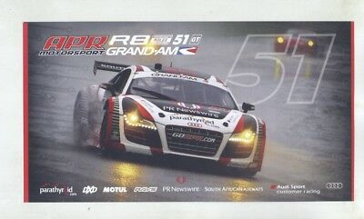 2012 Audi R8 Grand Am V10 FRI RWD APR Race Car Brochure Norman Multke my9077