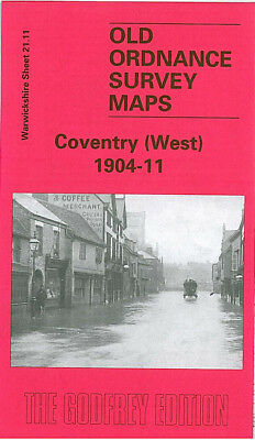 Old Ordnance Survey Map Coventry West 1904-11 Spon End Coundon Road