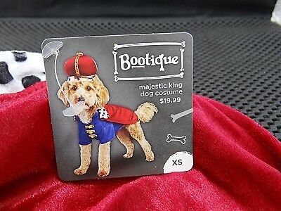Bootique XS Majestic King Dog Pet Costume Halloween X-Small New 11-13""