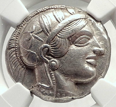 ATHENS Greece 440BC Ancient Silver Greek TETRADRACHM Coin Athena Owl NGC i73340