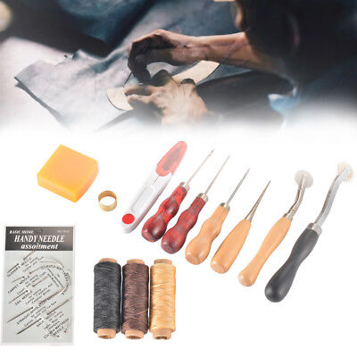 13cs Leder Werkzeug Leather Craft Hand Stitching Sewing Groover Tool Set CR056