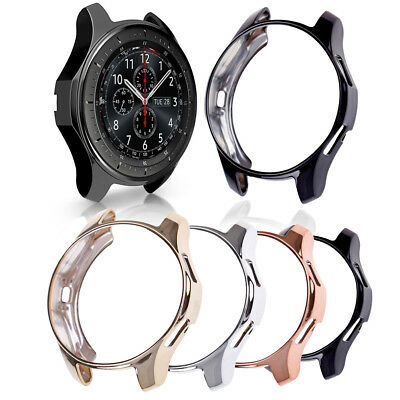 Fashion Soft TPU Plated Protective Bumper Shell Cover Frontier Case for Gear S3