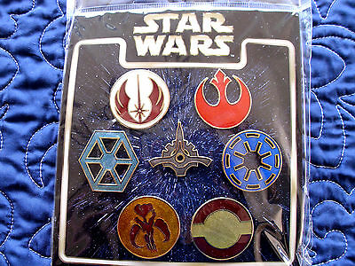 Disney * STAR WARS - EMBLEMS / BADGES * 7 Pin Booster Set - New in Package