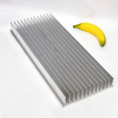 Bare Aluminum Heatsink 505mm x 211mm x 50mm 9mm Base Drilled With Holes Extruded