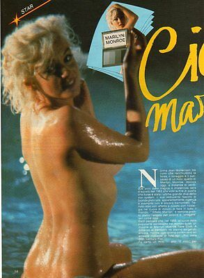 Q10 Clipping-Ritaglio 1985  Marilyn Monroe