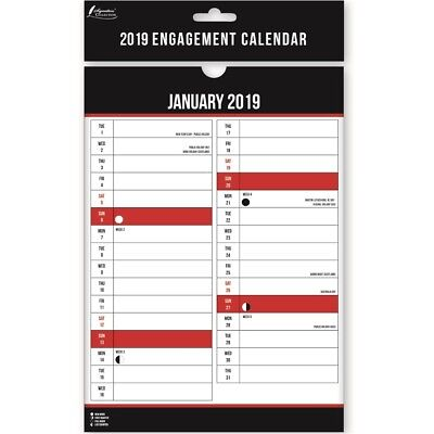 A4 2019 Small Month To View Wall Calendar Lunar Engagement Full Planner Office