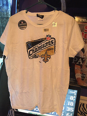 New Orleans Saints NFL 2009 NFC Champions Women s Locker Room T-Shirt  Ladies L e7c8e74be