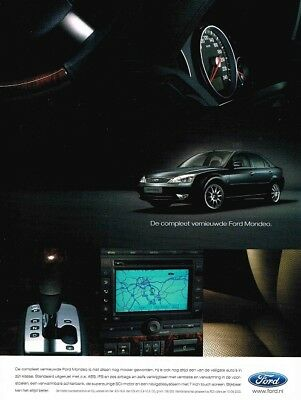 2003 Ford Mondeo (Dutch, 1pg.) Advertisement (AAB.702)