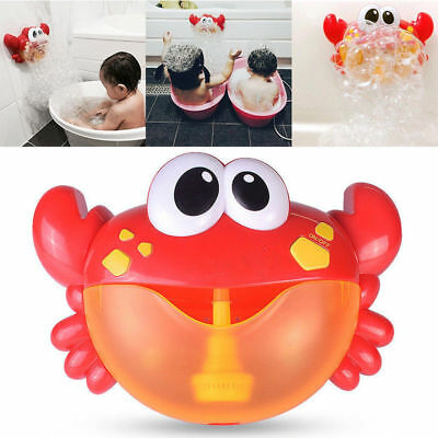 Bath Shower Kids Fun Toy Crab Bubble Maker Automated Spout Bubble Machine