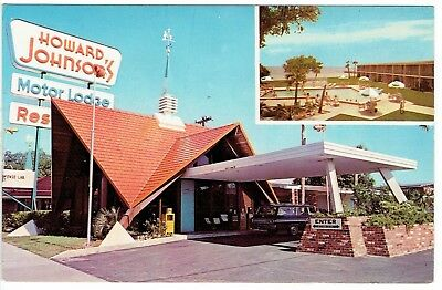 Vintage HOWARD JOHNSON'S MOTOR LODGE Panama City FL Chrome Postcard Unused