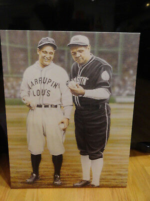 Larrupin Lou's and Bustin' Babes Lou Gehrig and Babe Ruth 16x20 Canvas Wall Art