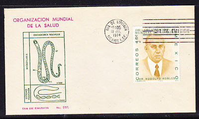 Mexico 1974 Dr Rodolfo Robles  First Day Cover  #215