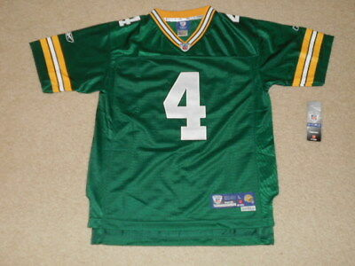 reputable site fbe20 d6ac7 (NEW) BRETT FAVRE - Reebok Authentic NFL Jersey Green Bay Packers - Youth  LARGE
