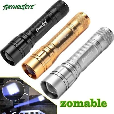 25000LM 3-Modes Flashlight Headlamp T6 LED 18650 Zoomable Torch Lamp Light Zoom