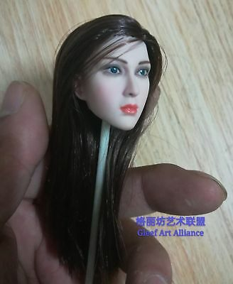 "1:6 Movie Star Woman Pale Head Sculpt Model For 12"" PH HT Female Figure Body Toy"