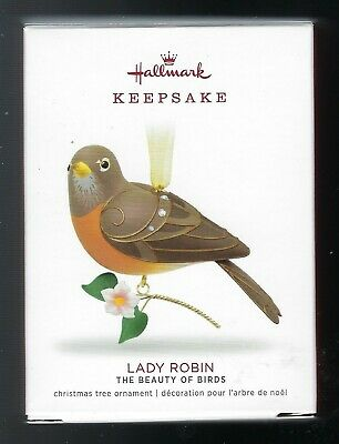 2018 Hallmark The Beauty of Birds Lady Robin Ornament Limited Edition New Mint