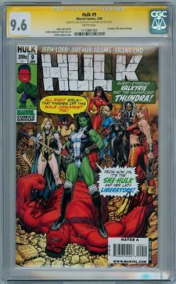 HULK #9 CGC 9.6 SIGNATURE SERIES SIGNED x2 STAN LEE FRANK CHO MARVEL COMICS