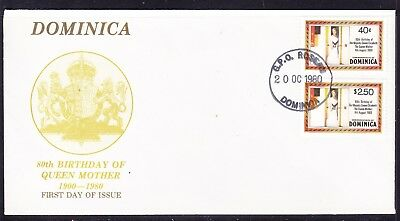 Dominica 1980 Queen Mothers 80th Birthday First Day Cover