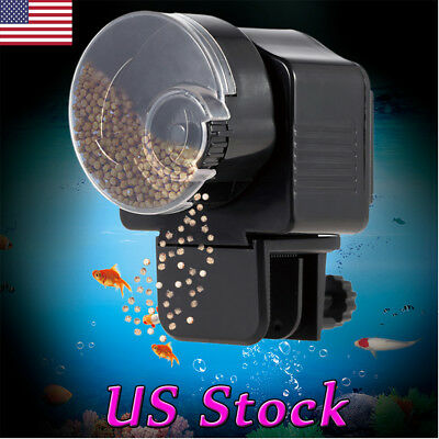Adjustable Automatic Aquarium 12/24h Timer Auto Fish Tank Food Feeder Feeding US