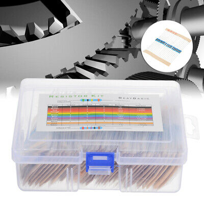 73 values 1460pcs 1% Precision 1/4W Metal Film Resistors Assortment Tool Kit