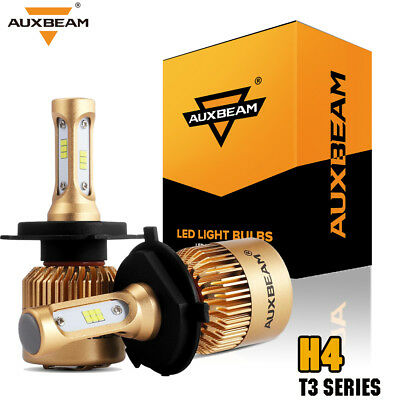 Auxbeam 6000K 80W H4 9003 HB2 Hi/Low Beam Headlights Bulbs Kits 6000K Dual Beam