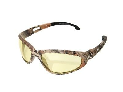 Edge Eyewear SW112CF Dakura Wrap Around Safety Glasses, Black/Yellow Lens