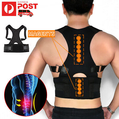 Posture Corrector Support Adjustable Therapy Body Shoulder Strap Back Brace Belt