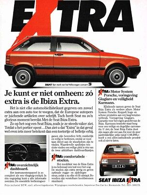 1989 Seat Ibiza Extra (Dutch, 1pg.) Advertisement (AAB.783)