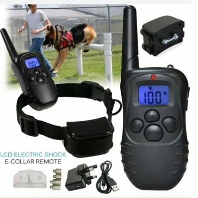 Rechargeable anti-bark LCD Electric Shock Remote collar Waterproof dog training