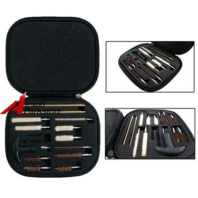 Pistol Cleaning Kit Rod Carrying Case for All Caliber Hand Guns 22 357 38 9mm 40