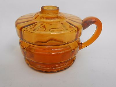 Early 20th c.Amber Glass ** HAND LAMP **