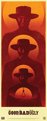 THE GOOD THE BAD & THE UGLY 14x36 poster R2014 Clint Eastwood - La Boca art