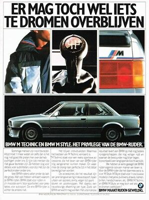 1986 BMW E30 3-Serie M Technic (Dutch, 1pg.) Advertisement (AAB.931)