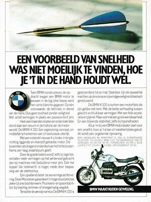 1986 BMW K100 (Dutch, 1pg.) Advertisement (AAB.932)