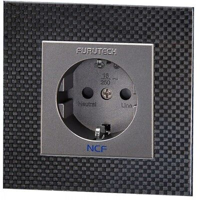 Furutech Ft-Sws Ncf Rhodium Schuko Wall Socket