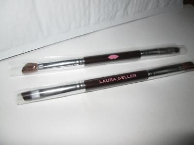 Lot 2 Laura Geller Double Ended Eyeshadow & Liner MakeUp Brushes New
