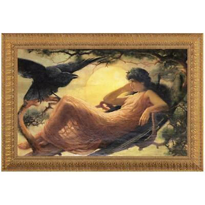 Design Toscano The Night Raven Sings, Canvas Replica Painting: Medium