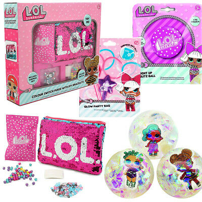 Lol Surprise Art & Crafts Purse Sequin Glow Stick Led Ball Fun Girls Xmas Toy