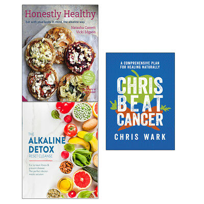Chris Beat Cancer Alkaline Detox Honestly Healthy 3 Books Collection Set NEW