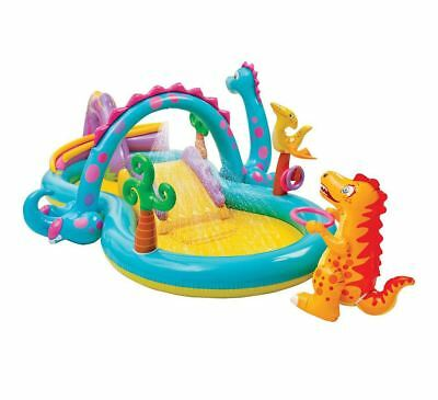 Intex Inflatable Dino Land Water Play Centre With Movable Dino Arch For Ages 3+