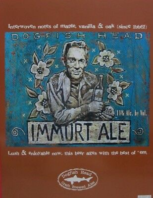 Dogfish Head Delaware Brewery Immort Ale Craft brew Beer Poster Art Print NEW
